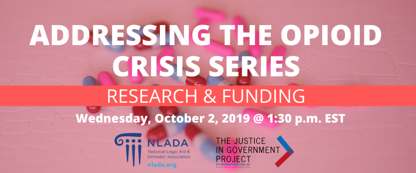 Opioids research and funding banner