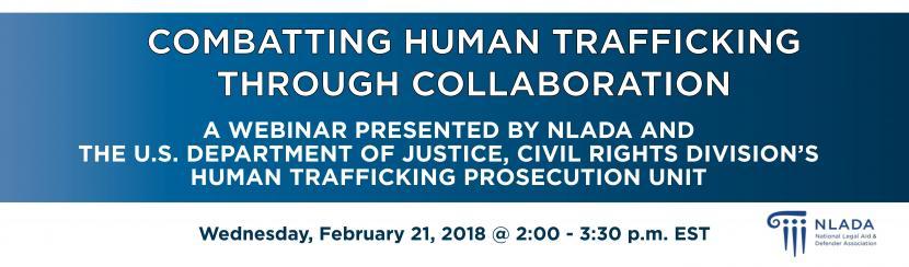 Combatting Human Trafficking banner
