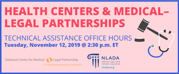Health Centers and Medical-Legal Partnerships banner
