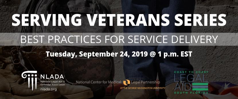 Veterans service delivery banner