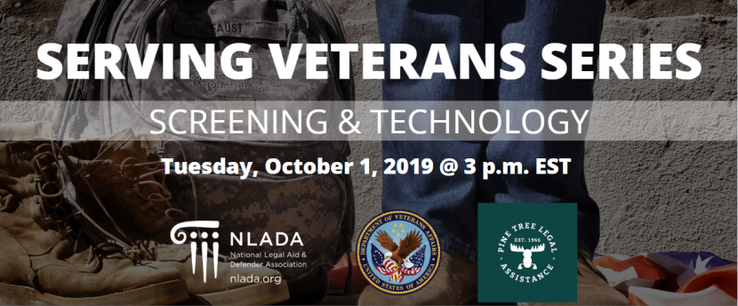Veterans screening and tech banner