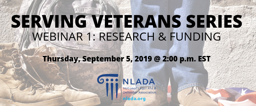 Veterans research and funding banner