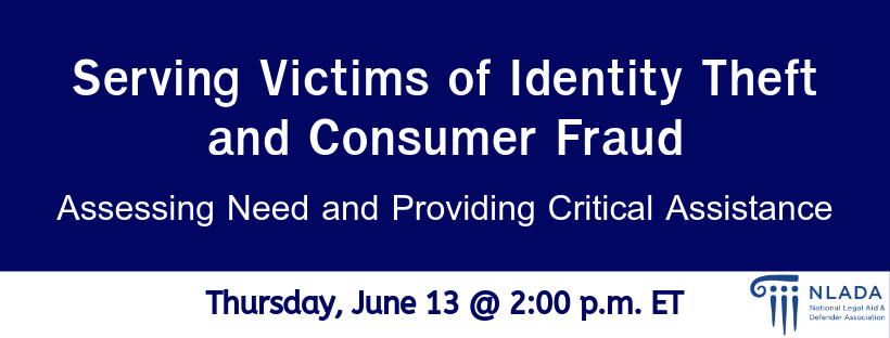 Victims of Identity Theft and Consumer Fraud banner
