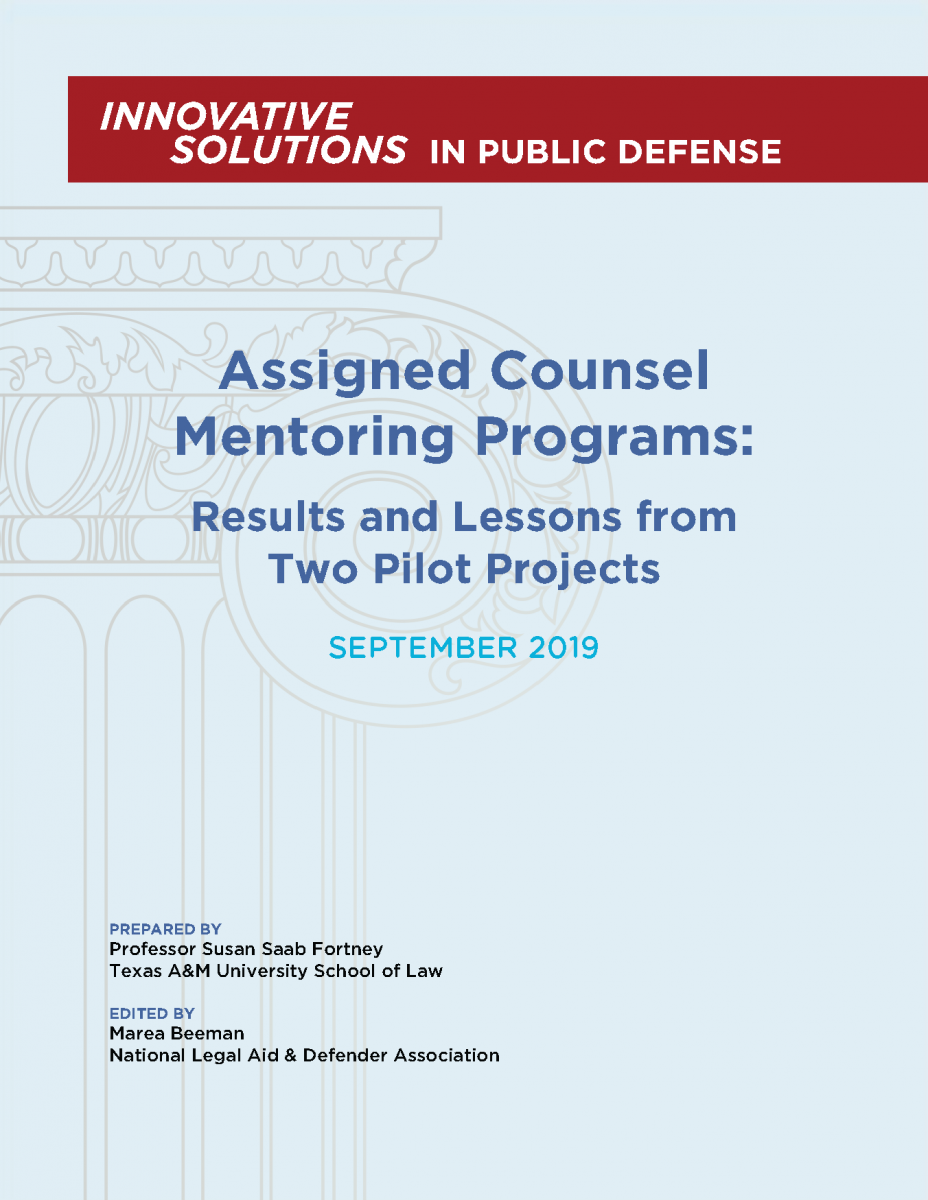 Assigned Counsel Mentoring Programs