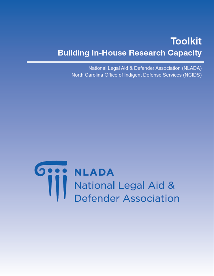 Building In-House Research Capacity Toolkit